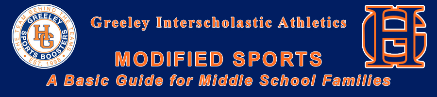 Greeley Interscholastic Athletics. Modified Sports. A basic guide for middle school parents.