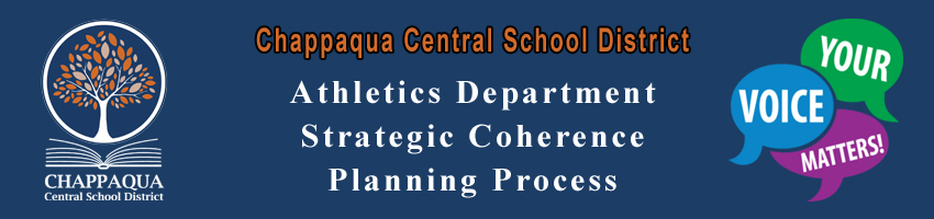 Chappaqua Central School District. Athletics Department Strategic Coherence Planning Proncess. Your. Voice. Matters.