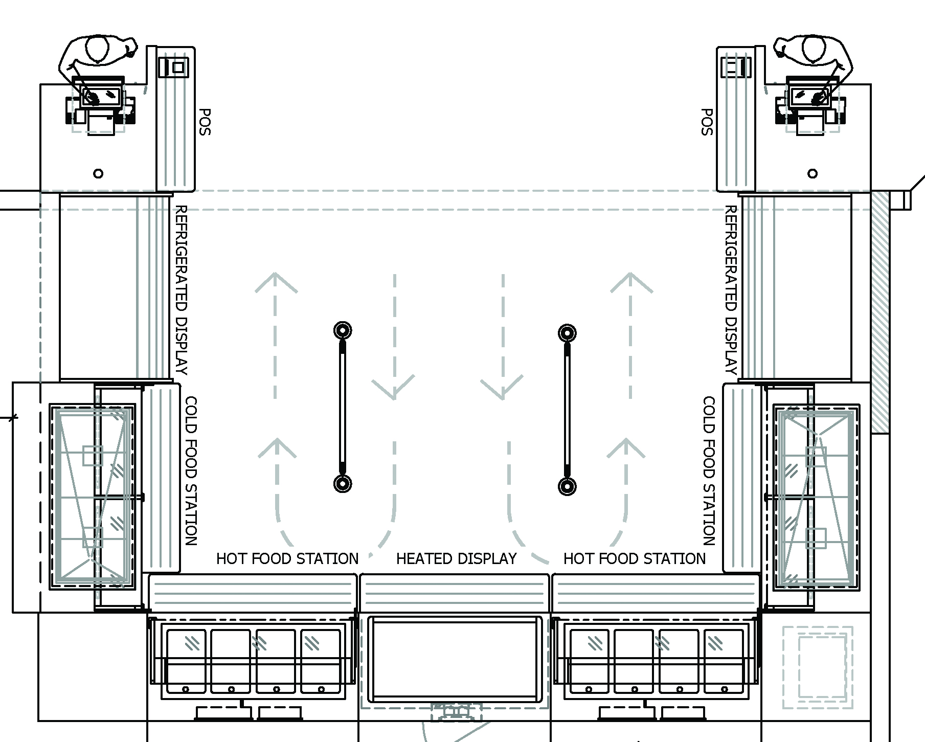 Proposed layout of Bell Cafeteria