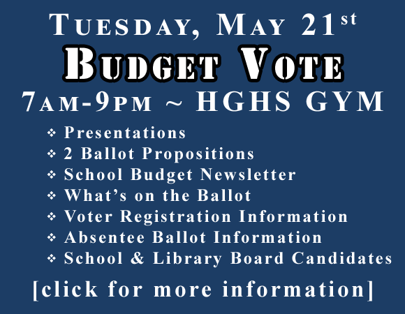 Tuesday, May 21st. budget Vote. 7am to 9pm. click for more info.