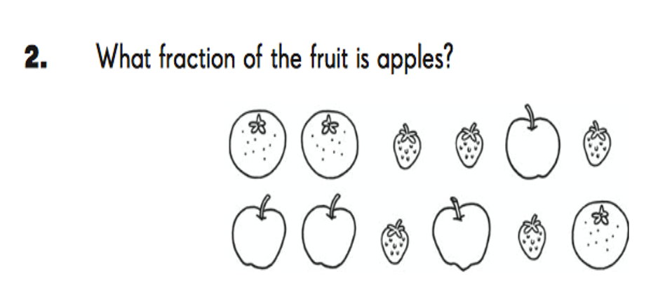 3 oranges, 5 strawberries, 4 apples. What fraction of the fruit is apples?
