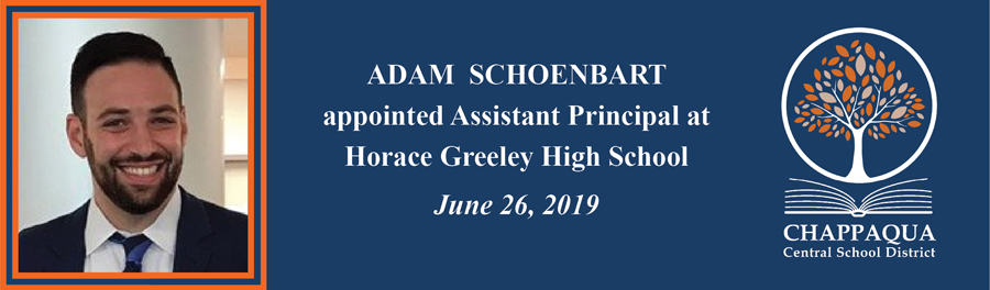 Adam Schoenbart appointed new Assistant Principal at Greeley.
