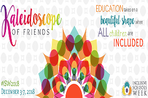 National Inclusive Schools Week Banner. December 3-7-2018. #ISW