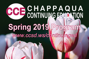 Chappaqua Continuing Education Spring Program. www.ccsd.ws/continuinged. Wild tulips.
