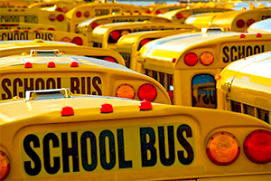 School bus yard.