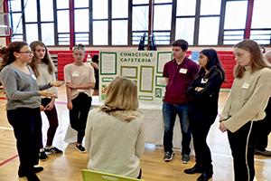 Students presenting at the Bedford 2020 Greenlight Award semifinals