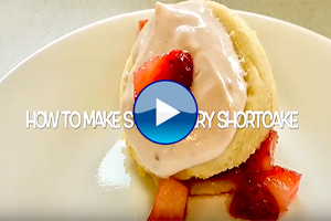 How to make strawberry shortcake.