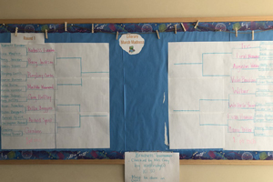 March Madness Literary bracket.