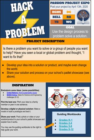 Hack-A-Problem Passion Board.