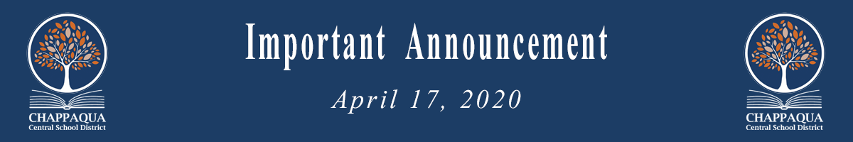 Important Announcement April 17 2020