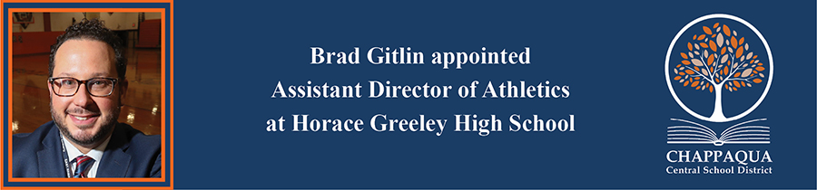 Mr. Brad Gitlin appointed Assistant Director of Athletics at Hoarace Greeley High School.