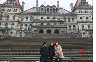 Hilary Grasso, Victoria Tipp and Holly McCall in Albany.