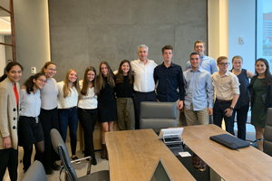 HG alum Bill Ackman with SEL Fellowship students from Greeley.