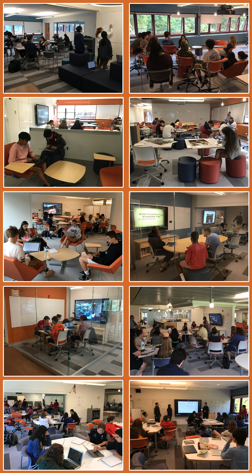 Picture collage from upper L Building.