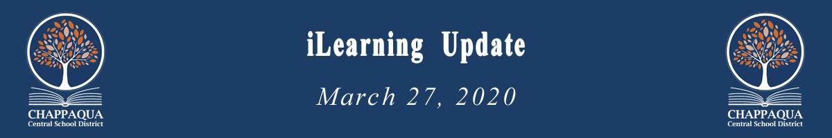 iLearning Update March 27, 2020