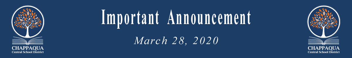 Important Announcement March 27 2020