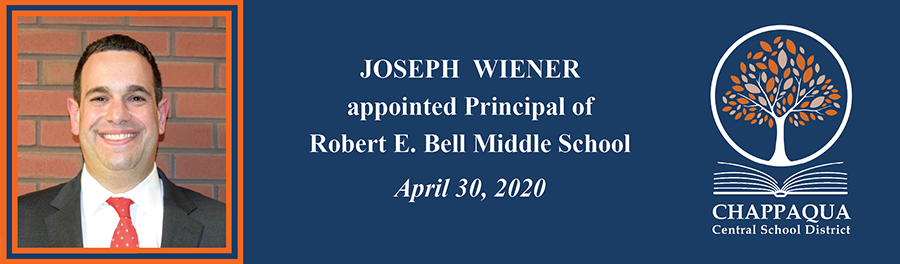 Joseph Wiener appointed new Principal of Robert E. Bell Middle School.