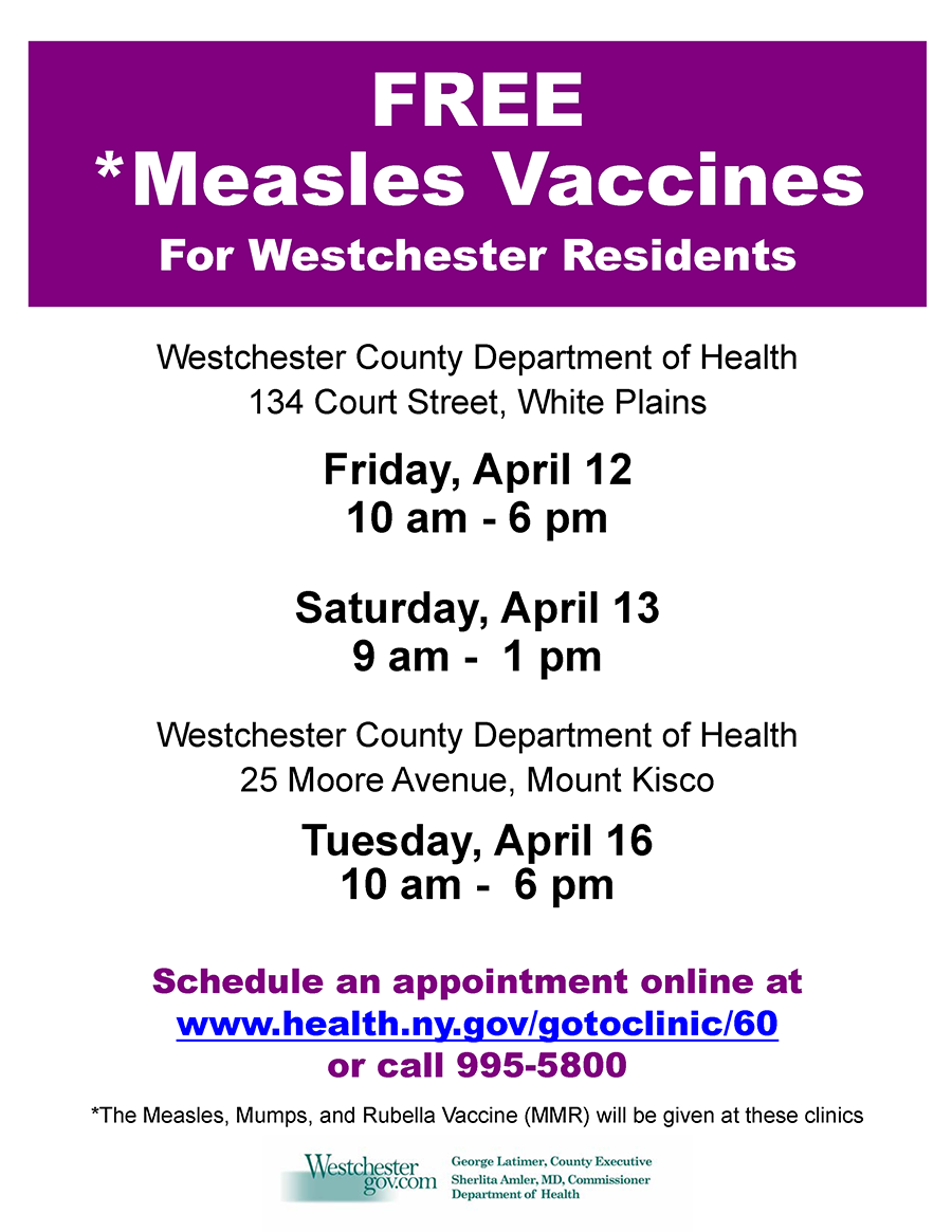 Measles Clinic Flyer