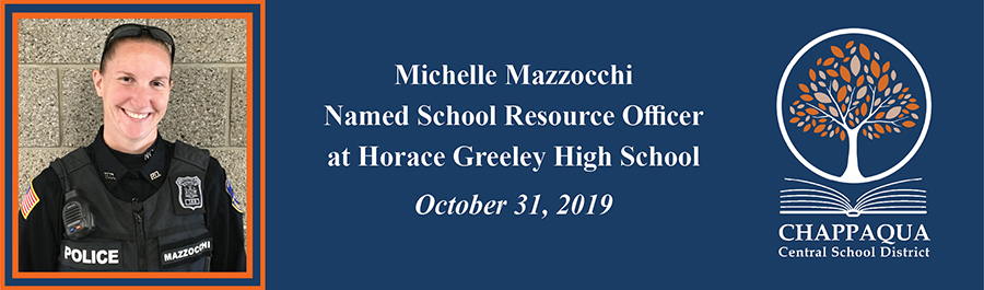 Michelle Mazzocchi named School Resource Officer at Horace Greeley High School. October 31, 2019.