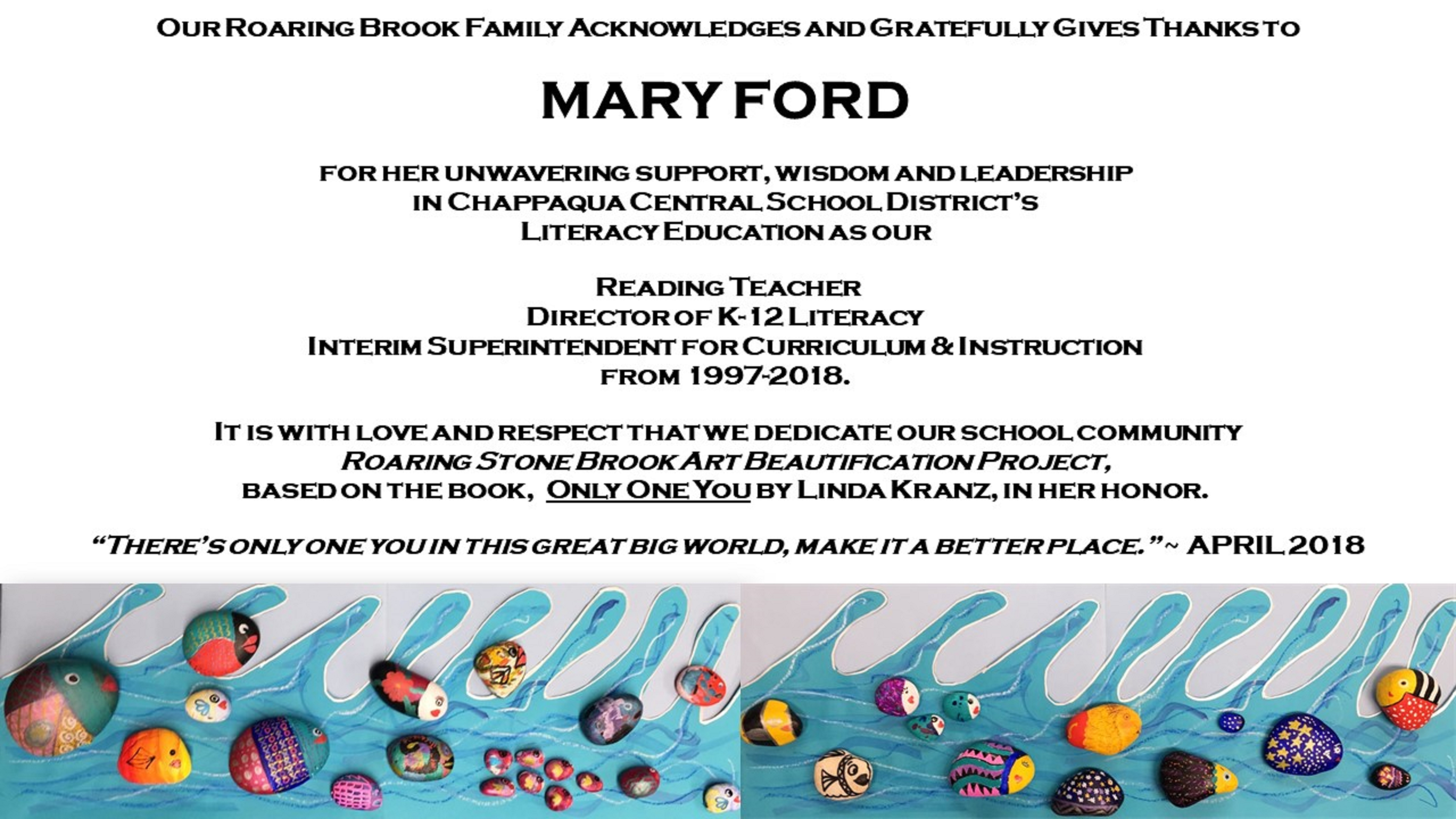 Mary Ford Dedication