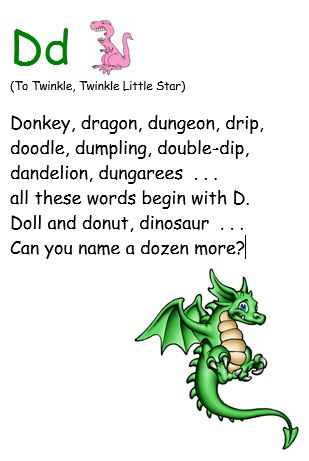 Dd lyrics to Twinkle, Twinkle Little Star
