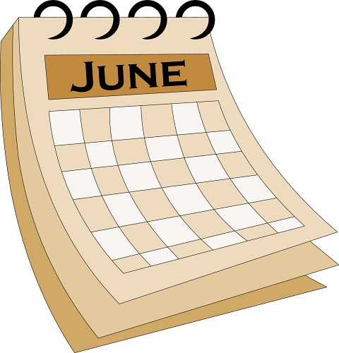 June Calendar - Exam Schedule and End-of-Year Events